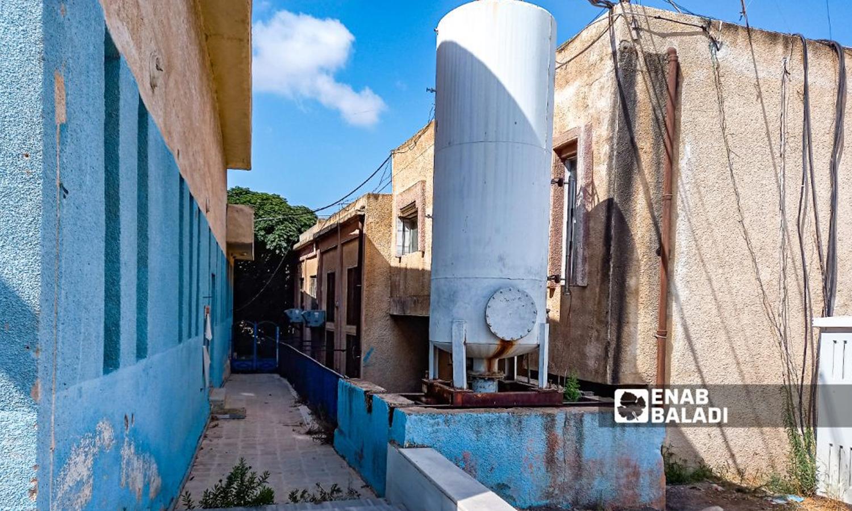 Oyoun al-Abd water pumps in the town of El-Agamy in the western countryside of Daraa- 9 August 2021 (Enab Baladi-Halim Muhammad)