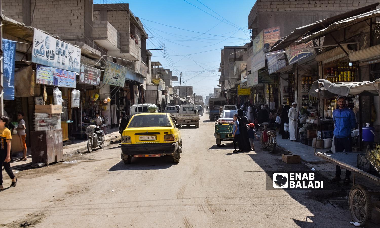 Quwatli Street in the eastern side of the city of Raqqa- 23 August 2021(Enab Baladi/Hussam al-Omar)