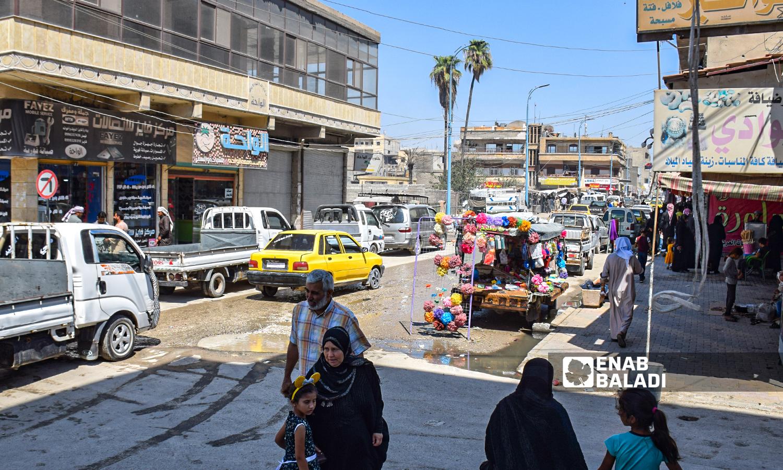 Al-Wadi Street in Raqqa city-22 August 2021(Enab Baladi/Hussam al-Omar)