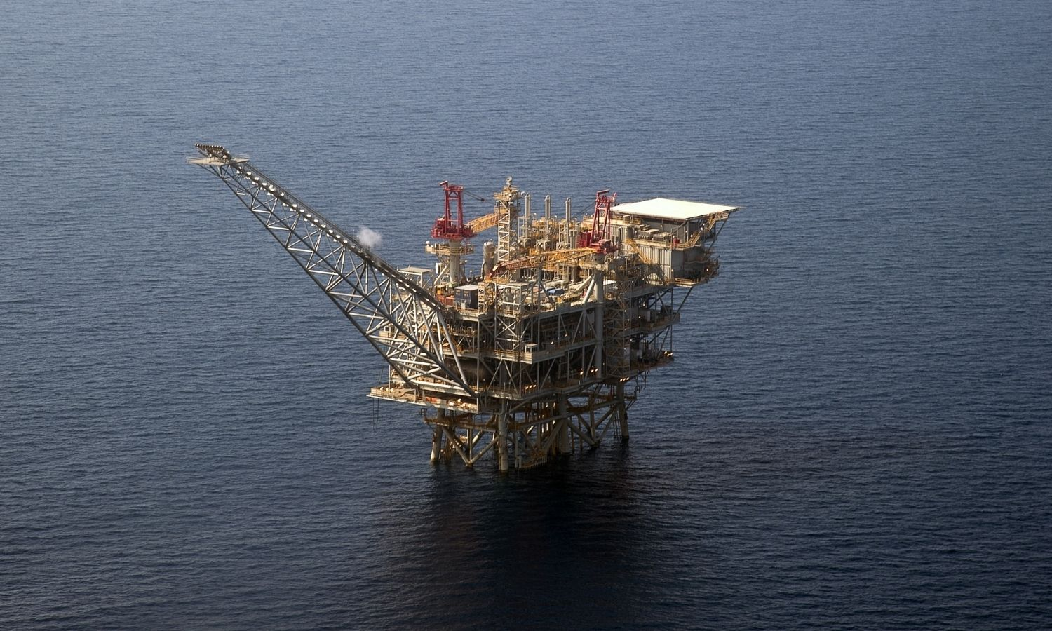 A natural gas well in the Mediterranean Sea (AFP)