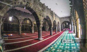 The al-Omari Mosque during restoration works - October 2020 (Enab Baladi)