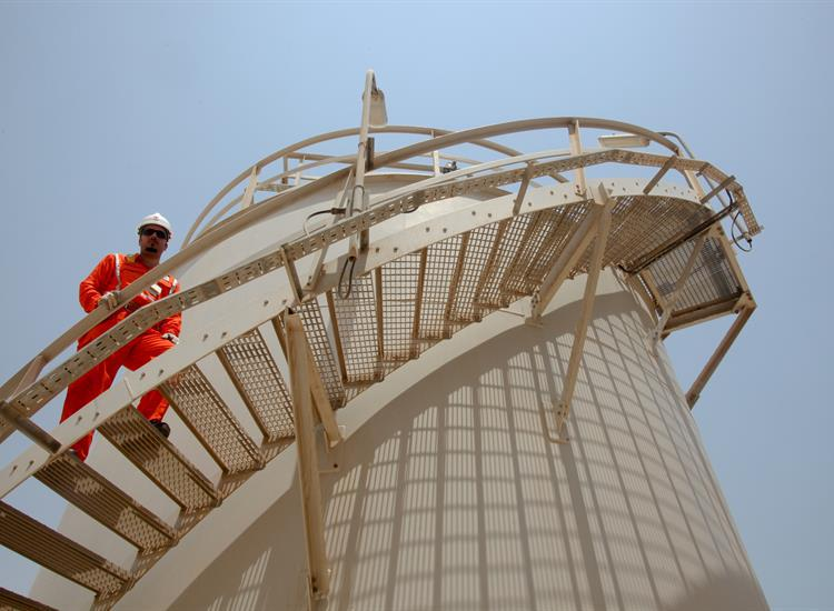 Workers at Qatar Liquified Gas Company (the company's official website)