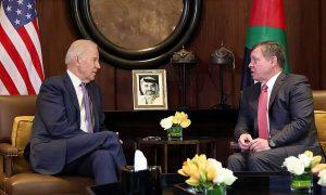 The Jordanian King Abdullah II and United States President Joe Biden - 2021 (CNN)