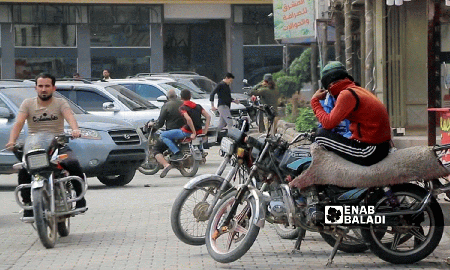 Motorcycles in Azaz city in the northern Aleppo countryside - 23 September 2021 (Enab Baladi / Walid Othman)
