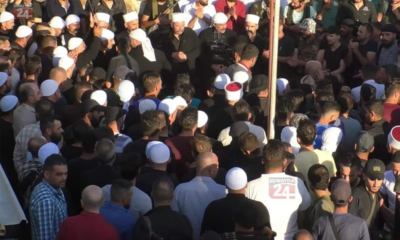 Members of the Men of Dignity Movement with people in As-Suwayda - 14 September 2021 (Sweida - 24)