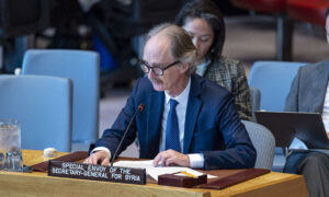 UN envoy to Syria Geir Pedersen during a session of the Security Council (UN)
