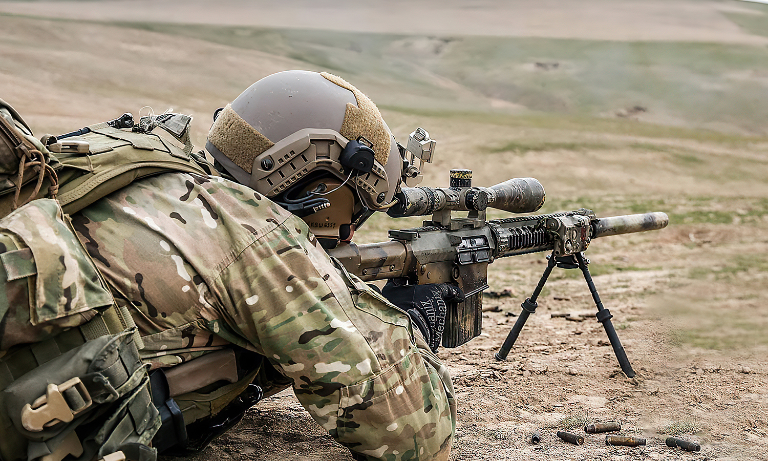 Turkish soldier during military exercises near the Syrian border - 2020 (Shutterstock)